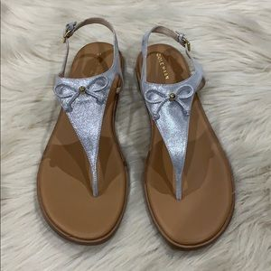 NWOT Cole Haan silver sandals